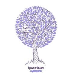 Stylized green tree Wedding vector image vector image