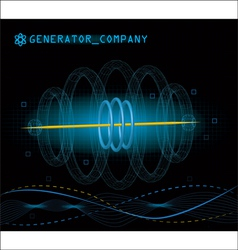 3d abstract technology vector image