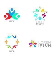 business logo set vector image vector image