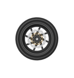 detailed drawing of motorcycle wheel vector image