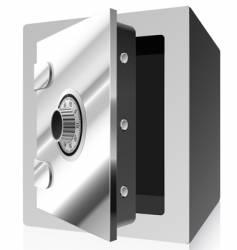 steel safe vector image vector image