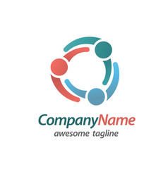 teamwork community logo vector image