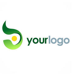 abstract round eco logo vector image