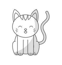 cute shadow cat cartoon vector image vector image
