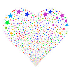 fireworks star fireworks heart vector image vector image