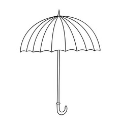 outline cute cartoon umbrella vector image