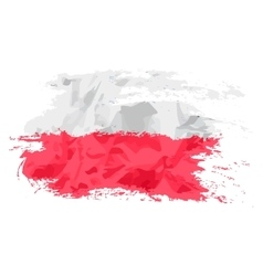 Poland flag painted by brush hand paints Art flag vector image vector image