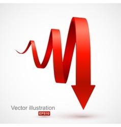 Red spiral arrow 3D vector image vector image