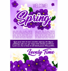 spring season holidays floral poster template vector image vector image
