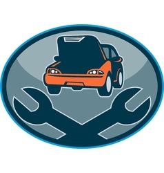 Automobile car breakdown mechanical repair vector