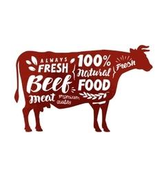 Cow symbol Meat beef vector image