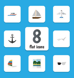 Flat icon season set of aircraft reminders vector