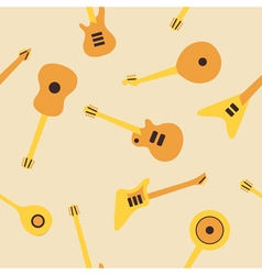 Seamless background with guitars vector image