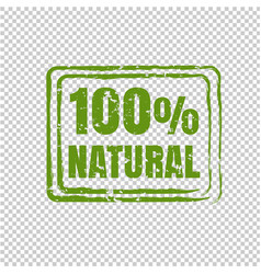100 natural product transparent backgrou vector image