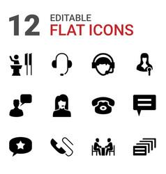 12 talk icons vector