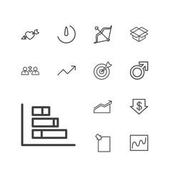 13 arrow icons vector
