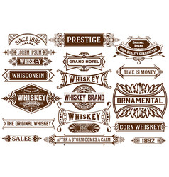 19 banners set western style vector image