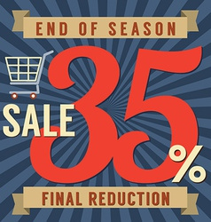 35 Percent End of Season Sale vector