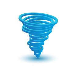 3d tornado symbol made by circles vector image