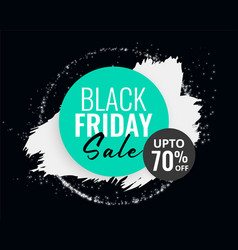 Abstract black friday sale background with ink vector