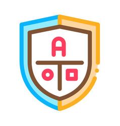 academy emblem logo icon outline vector image