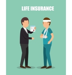 Agent insurance healthy design vector