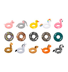 animal and classic rubber ring vector image