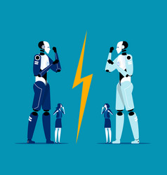 artificial intelligence technology competition vector image