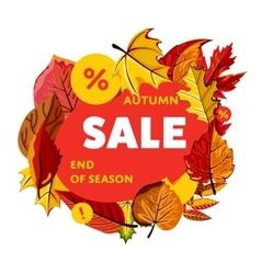 Autumn sale banner end of season vector
