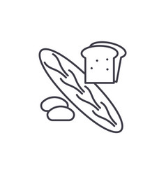 bakery shop line icon concept bakery shop vector image