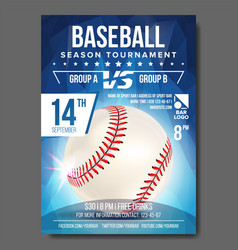 Baseball poster banner advertising sport vector