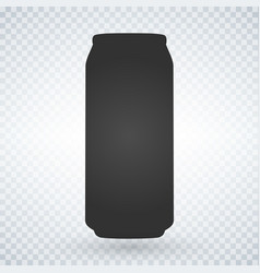 Beer or soda can icon on light background vector