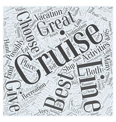 Best cruise lines Word Cloud Concept vector