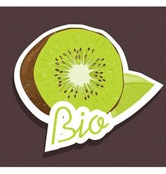 Bio kiwi tag vector image