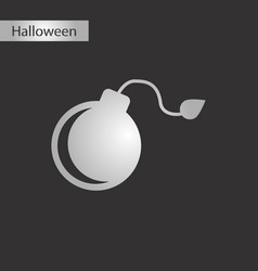 Black and white style icon bomb vector