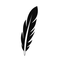 bright feather icon simple style vector image