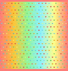 bright glowing heart pattern seamless background vector image