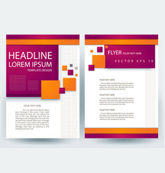 Business corporate brochure template design vector