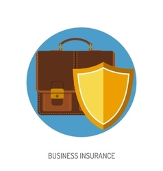 Business Insurance Flat Icon vector