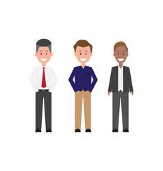 Businessman character flat design vector