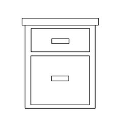 Cabinet drawers handle wooden office organization vector