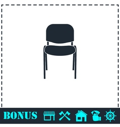 Chair icon flat vector image vector image
