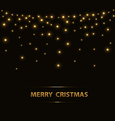christmas background with lights vector image
