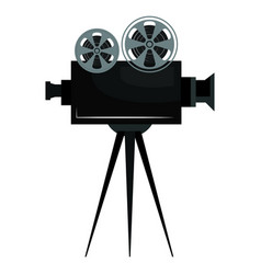 cinema film camera icon vector image