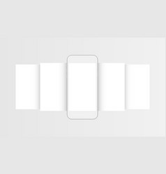Clay mobile phone with blank wireframing web pages vector