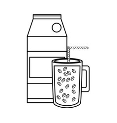 coffee and milk carton vector image