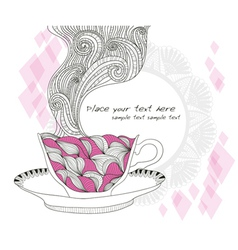 Coffee or tea cup background vector