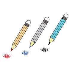 color pencil vector image