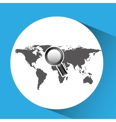 concept globe browser social media vector image