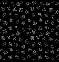 dark real estate pattern or background vector image